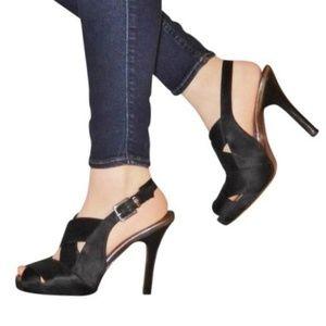 BCBG Max Azria Satin Bandage Heels